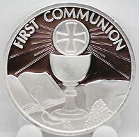 2019 First Communion .999 Silver Art Medal 1 oz Round - Religious Catholic Jesus