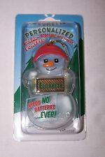 ELIZABETH Personalized Solar Powered Snowman Ornament/Gift Tag NameStar NEW