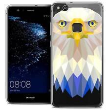 """Coque Housse Etui Pour Huawei P10 LITE (5.2"""") Polygon Animal Souple Fin Aigle"""