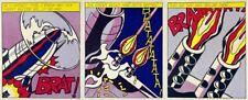 Roy Lichtenstein As I Opened Fire I II III Set of 3 Panels 3 Print Set