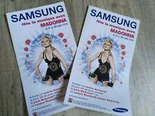 Madonna - rare promo flyer Samsung, lot de 2
