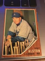 1962 TOPPS WALT ALSTON Los Angeles Dodgers 1962 Topps Vintage Trading Card #217