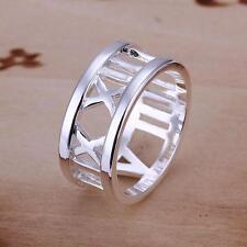 925 argento sorprendente Roman tempo Viaggiatore anello San Valentino amanti Token