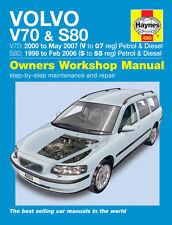 Haynes Manual 4263 Volvo V70 S80 2.0 2.3 2.4 2.5 y 2.4 D5 T5 se 1998-2007