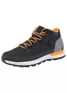 Timberland Mens Sprint Trekker Mid WP Black Orange Chukka Boots Waterproof