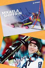 Mikaela shiffrin - 2 top autógrafo imágenes (10) - Print copies + ski ak firmado
