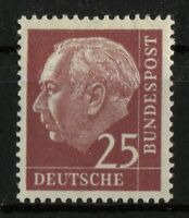 Bund Nr. 186 y ** sauber postfrisch Heuss Lumogen aus Heuss I BRD 1960 MNH