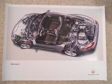 2004 Porsche 911 Carrera S Coupe Exposed View Showroom Poster RARE1 Awesome L@@K