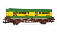 Rivarossi HR6414 HO Gauge DB Schenker Container Wagon IV