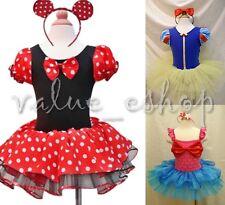 Minnie Mouse Ariel Mermaid Girl Kids Costume Fancy Ballet Tutu Dress Up Age 1-10