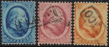 Netherlands 1864 King William III set sg 8-10 used
