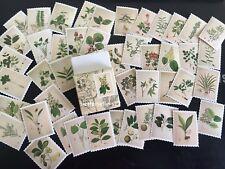 1 box 45 pcs plants  deco diary DIY album envelope Scrapbooking stickers