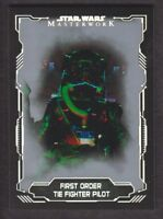 2016 Topps Star Wars Masterwork Silver Parallel Card #73 TIE Fighter Pilot SP/99