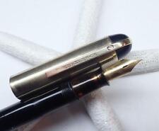 1940's Eversharp Skyline Demi Fountain Pen; Black; 14K Gold 'F' Nib; Restored