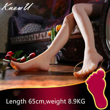 1 Pair Silicone Female Mannequin Sexy Long Leg Foot Model Shoes Display Prop