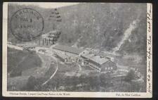 POSTCARD HASTINGS STATION WV GAS PUMP STATION FACTORY PLANT BIRD'S EYE 1910'S