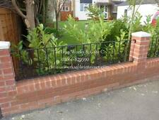 """POPULAR 6ft LONG x 18"""" TALL ANY SIZE WROUGHT IRON METAL FENCING RAILING PANELS"""