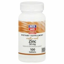 Zinc 50mg (100 Tablets) Natural Dietary Supplement Immune Health Cold Flu Virus