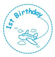 First Birthday stickers gloss white & clear labels invitation seals party x 100