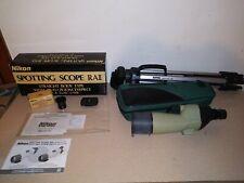 Nikon Spotting Scope RAII Straight Body Type W/ Tri-Pod Sima Model STV-58K