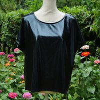 Lot revendeur 6 top tunique noir effet mouillé vinyl taille mélangée L zaza2cats