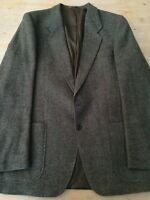 "Men's BOECKER blazer/jacket chest 40"" wool 2 button no vents pit to pit 21"" coll"