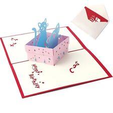 Invitation Thanksgiving Birthday Animal Box Cat Pop UP Greeting Card 3D