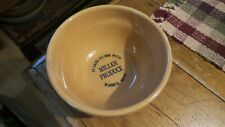 Antique Pottery Advertising BOWL, MILLER PRODUCE, WASECA, MINNESOTA 7""
