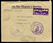 SEYCHELLES: (14837) handstamped AIRMAIL sticker-type cancel/cover
