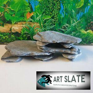 Art Slate 2kg Cave Fish Tank Aquarium Vivarium Natural Stone Decoration Breeding
