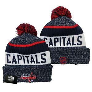 NEW ERA NHL Washington Capitals On field Sideline Beanie Winter Pom Knit Cap Hat