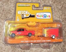 New GREENLIGHT HITCH & TOW 2015 FORD F-150 & SMALL CARGO TRAILER TOYS R US MISB