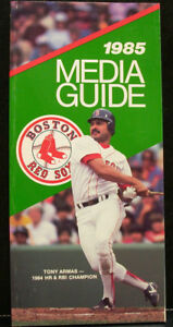 1985 Boston Red Sox Official Media Press Guide, 120 Pages!
