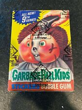 1987 Topps Garbage Pail Kids 9th Series Box W/ 48 Packs BBCE Authenticated NR!!