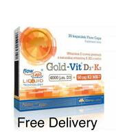 OLIMP GOLD-VIT D3+K2 VITAMIN BLOOD CLOTTING BONES TEETH SUPPORT 4000j.m. D3