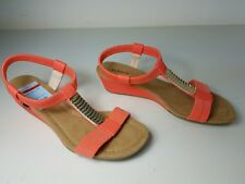 size 7.5 w Alfani Vacay Sunstone Wedge T-Strap Open Toe Sandals Womens Shoes NEW