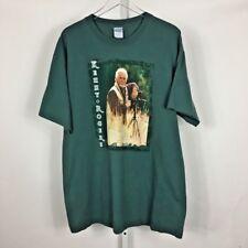 Kenny Rogers Tour Men's T-Shirt Vintage Rare Green Size XL