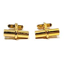 Bar Swing Back Cufflinks Solid 10K Yellow Gold