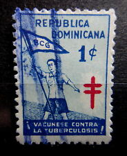DOMINICANA 1930 ANTI TUBERCULOSIS Stamp Cinderella SCOUT - Used - VF - r42b1862