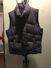 The Limited Denim Down Vest Ladies Womens Small Blue