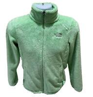 The North Face Womens Osito Jacket Fuzzy Full Zip Fleece Size Small Green EUC