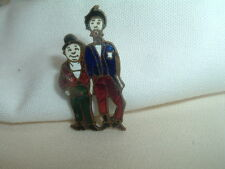 Vintage Abbott and Costello Cloisonne Enamel Pin in Gift Box RARE