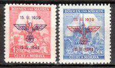 Germany / Bohmen und Mahren - 1942 3 years protectorate - Mi. 83-84 MH