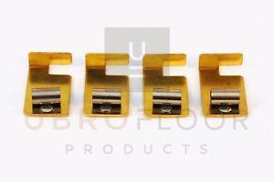 Original Clarke Super 7 Brush Spring Clip assembly - 50932A - Set of 4