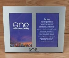 Genuine One Downtown Disney Silver / Gray Picture 7 1/2 x 10 Frame Only *Read*