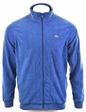 LACOSTE Mens Fleece Jacket Size 7 XL Blue Polyester  JB20