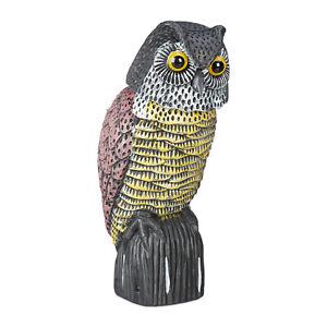 Owl Bird Deterrent, Decoy Dummy, Dove Scarer, Scarecrow Figure, Swivel Head