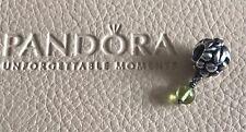 PANDORA STERLING SILVER PERIDOT WHITE WINE GRAPES CHARM #790481PE