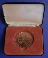 1976 MONTREAL XXI. OLYMPIC SOMMER GAMES PARTICIPTION MEDAL IN ORIG. ETUI