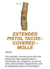 Hsgi Extended Pistol Taco Pouch, Coyote Brown, Molle Attachment